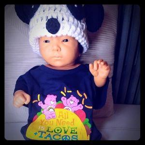 Care Bears Onesie Love & Tacos Royal Blue 9-12 M